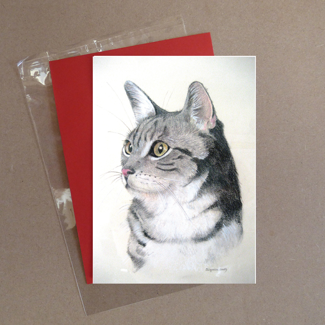Cat Greeting Card