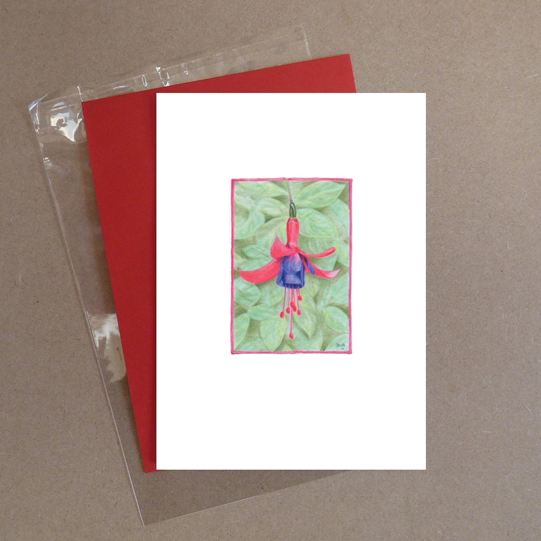 Multa Fuchsia Greeting Card