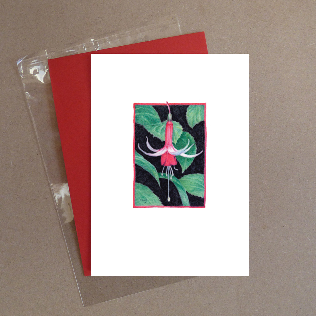 Checkerboard Fuchsia Greeting Card