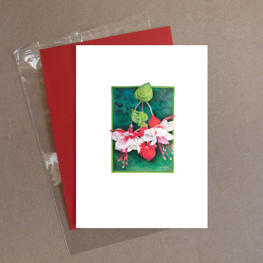 Swingtime Fuchsia Greeting Card