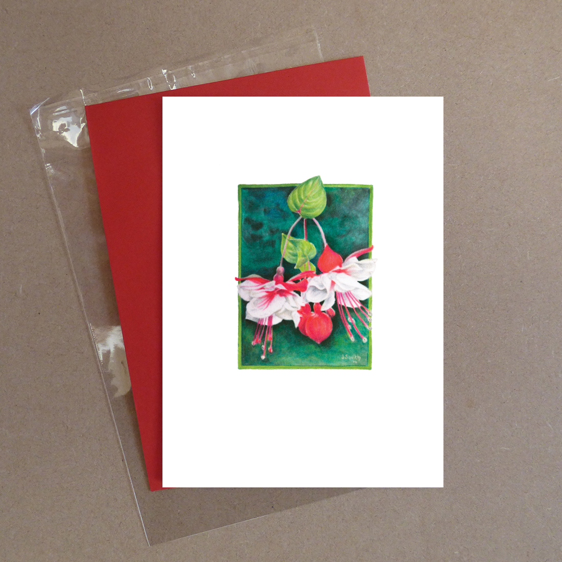 Swingtime Fuchsia Greeting Card