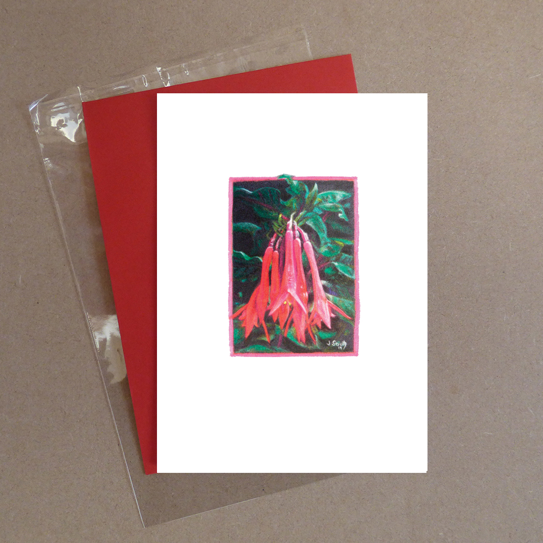 Thalia Fuchsia Greeting Card