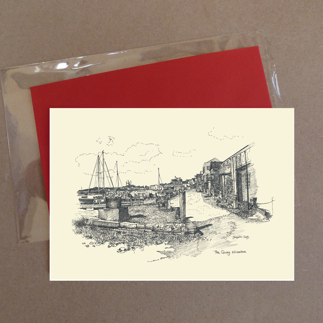The Quay at Wivenhoe Greeting Card