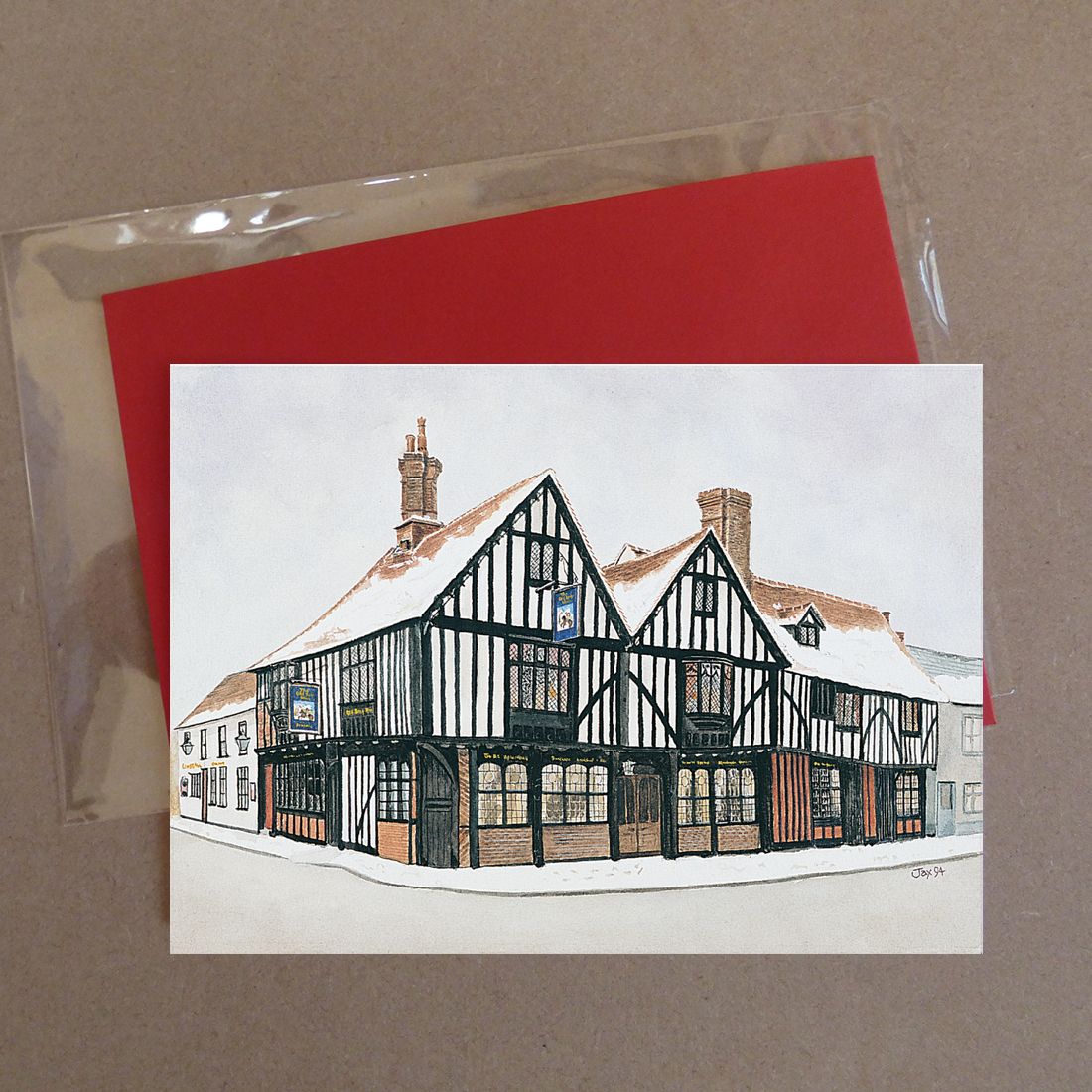 The Old Siege House, Colchester Greeting Card