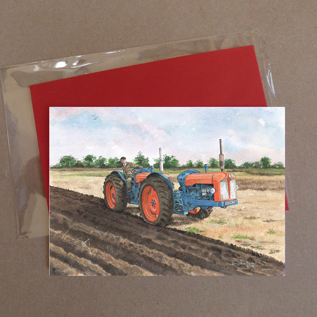 Fordson Triple D Tractor Greeting Card