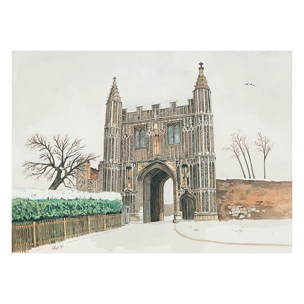 Abbey Gate House in watercolour