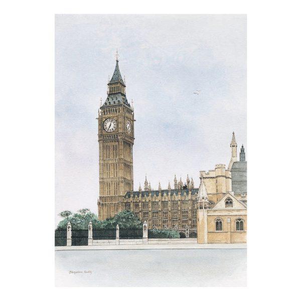Big Ben in watercolour