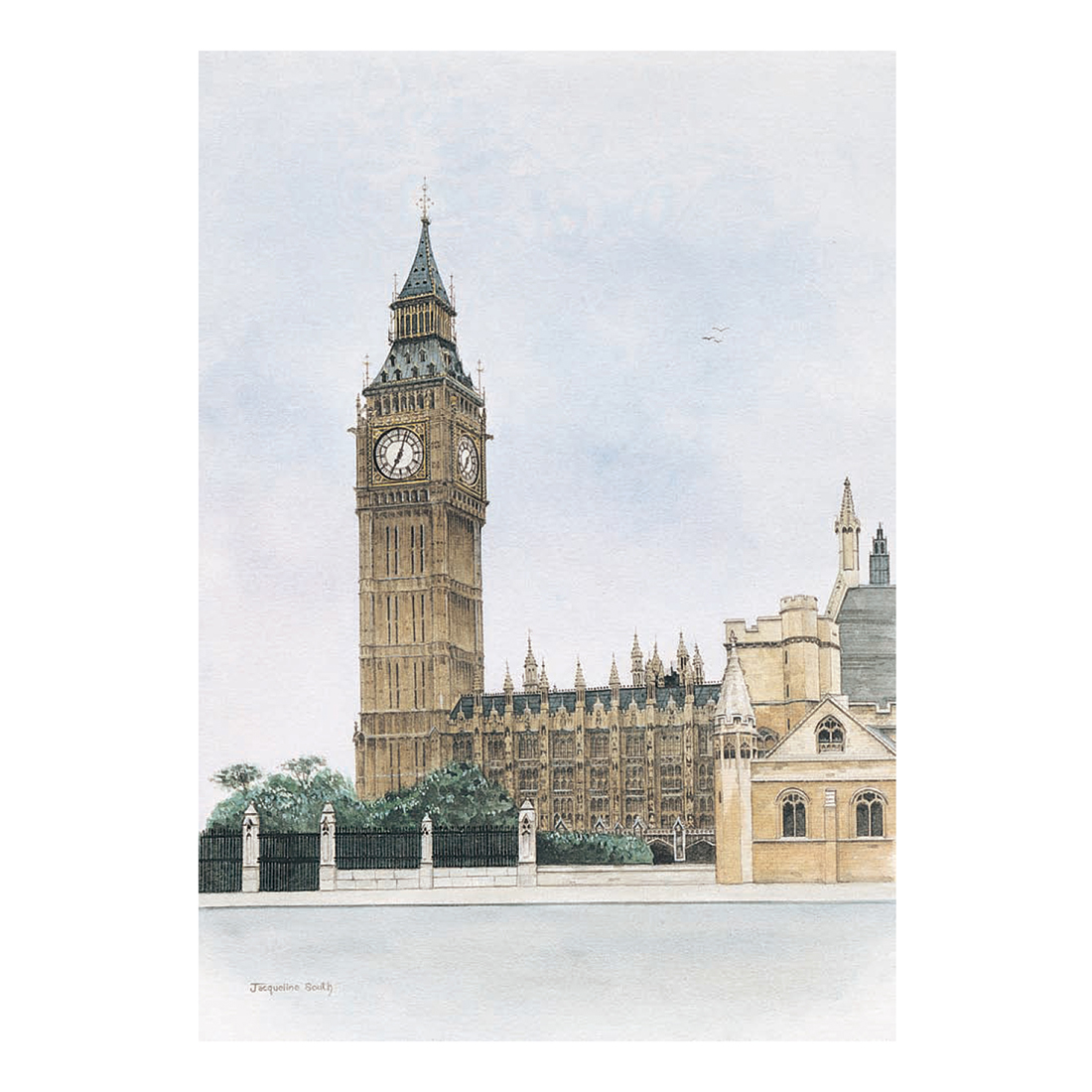 Big Ben in watercolour