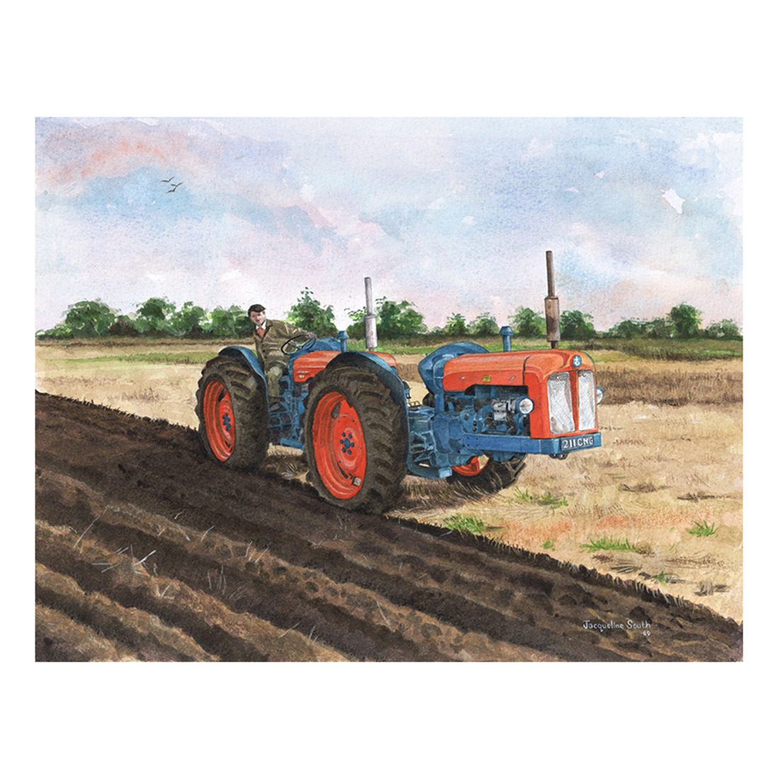 Fordson Triple D in watercolour