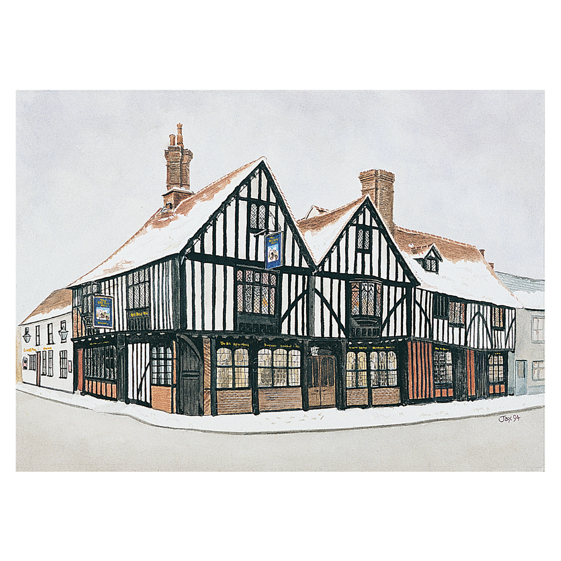 The Old Siege House in watercolour