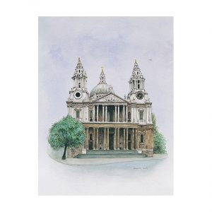 St. Paul's Cathedral in watercolour