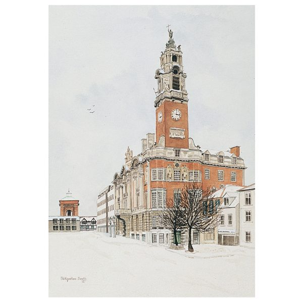 The Town Hall in watercolour