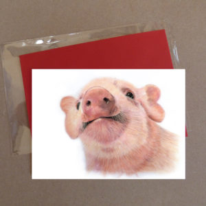 Pig Greeting Card 1