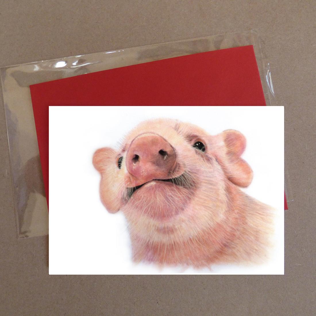 Pig Greeting Card 1