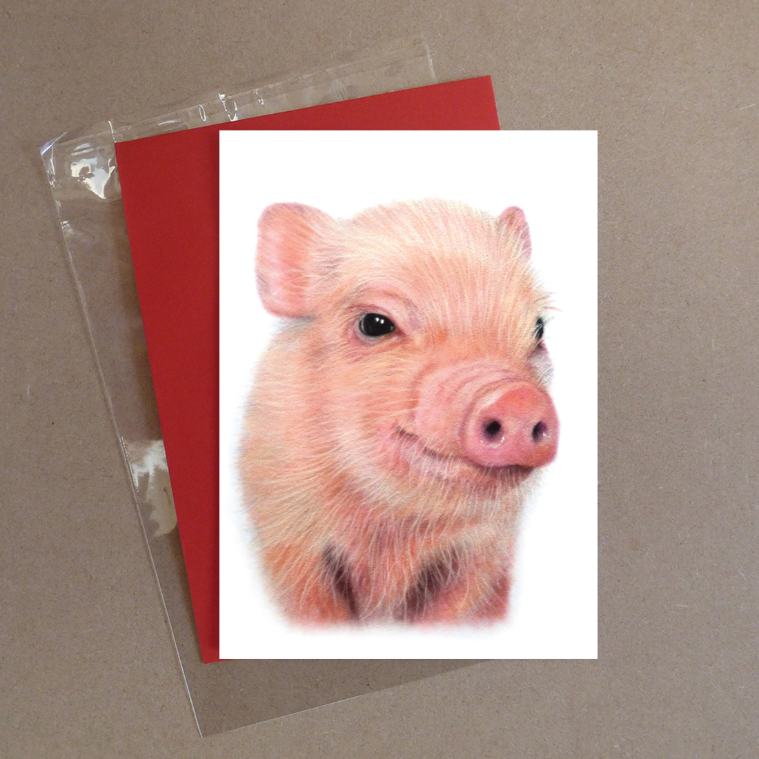 Pig Greeting Card 2