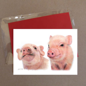 Pig Greeting Card 3