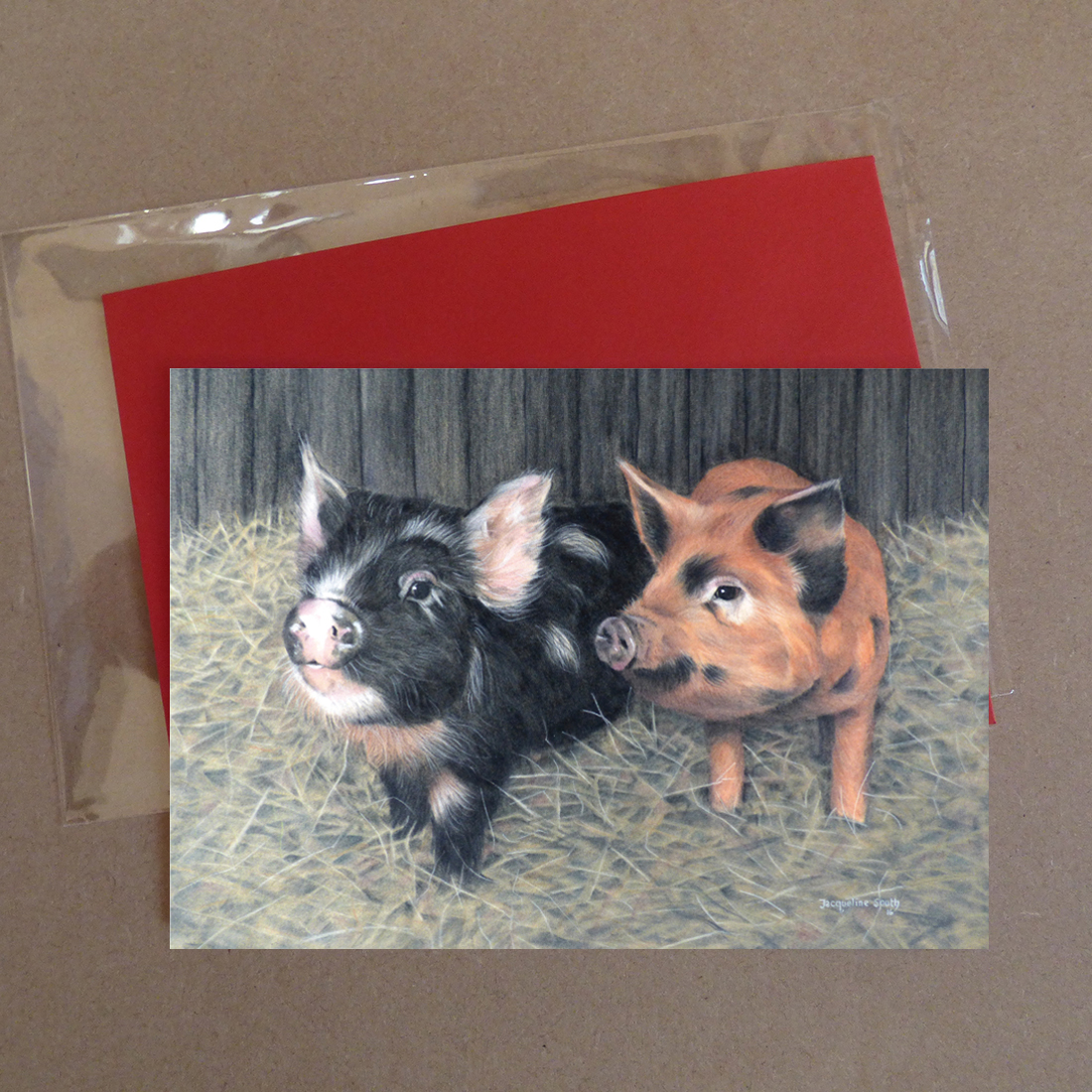 Pigs Greeting Card 4
