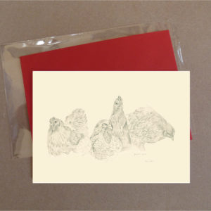 Cochin Chickens Greeting Card