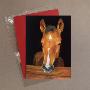 Brown Horse Greeting Card