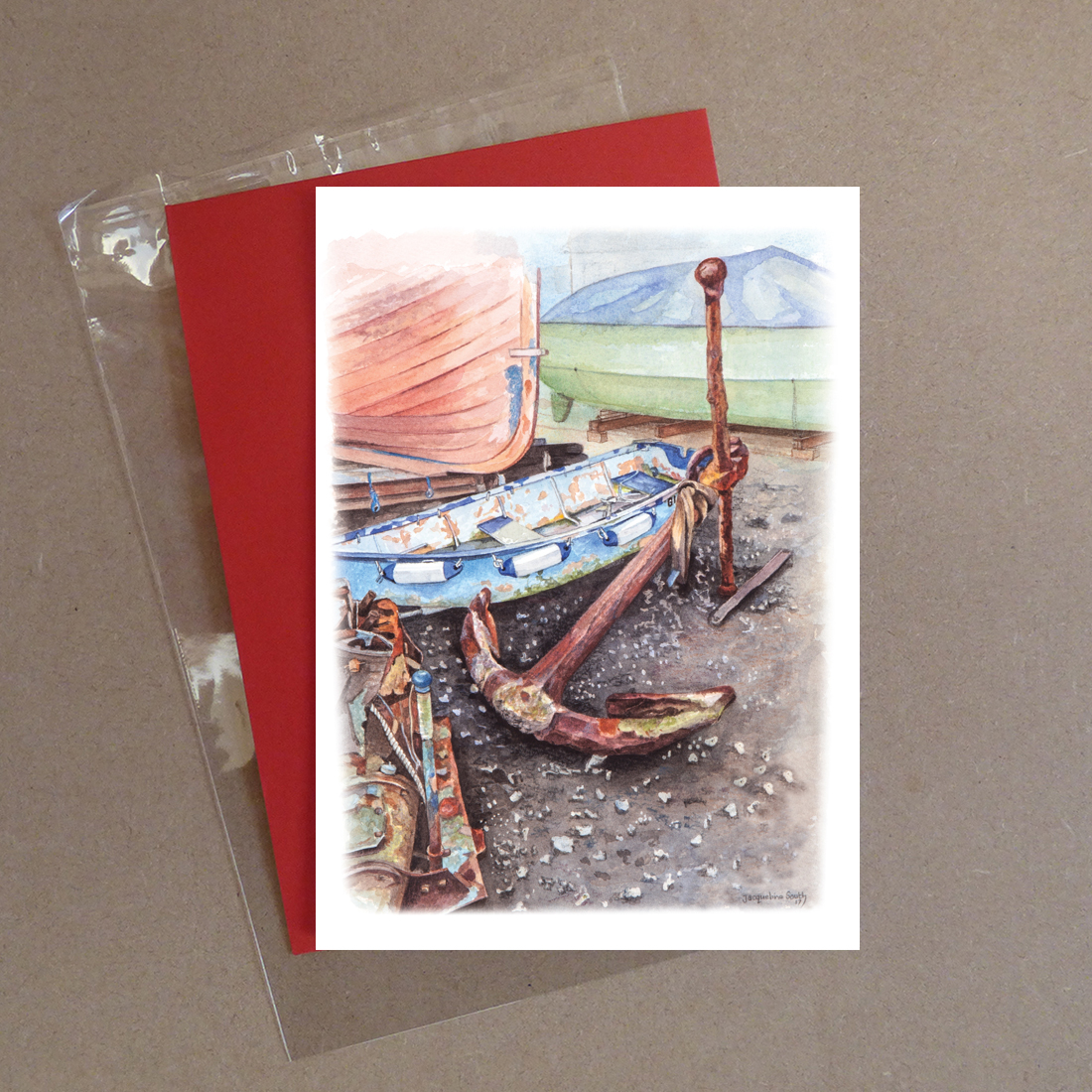Large Anchor Greeting Card