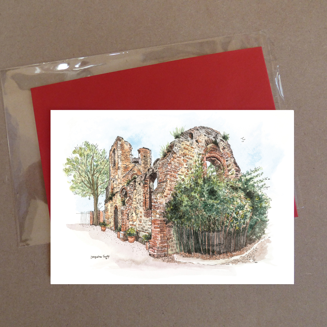 The West Tower, Colchester Zoo Greeting Card