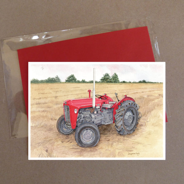 Red Tractor Greeting Card