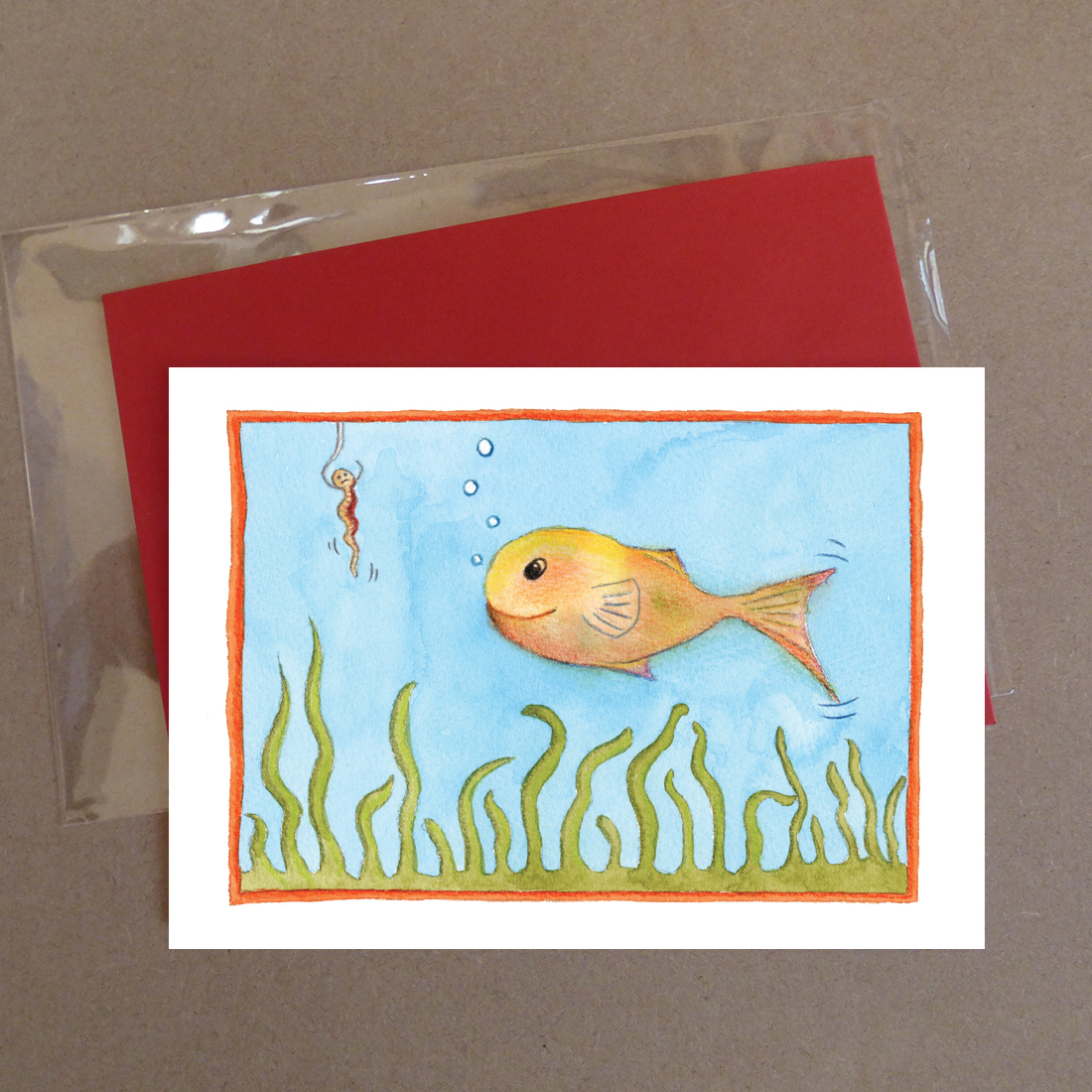 Swimmy Swim Greeting Card
