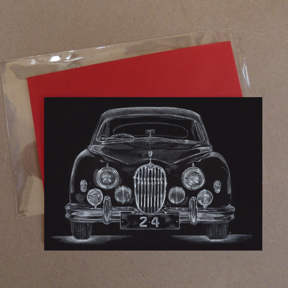 Jaguar Car 2.4 Greeting Card