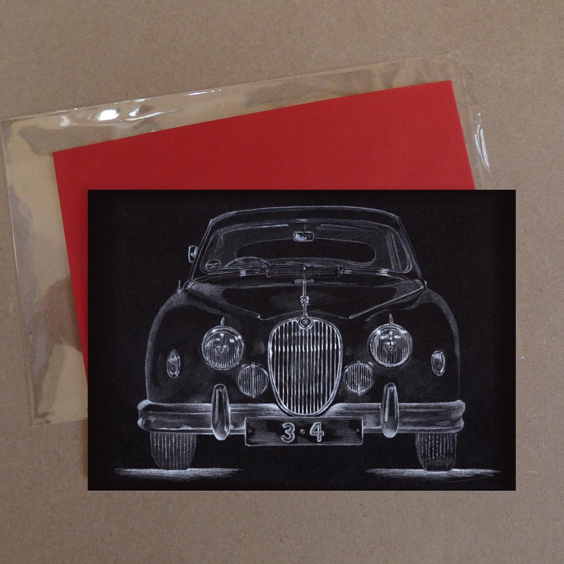 Jaguar Car 3.4 Greeting Card